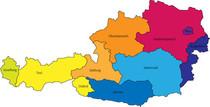 Österreich, Landkarte, Bundesländer Österreich